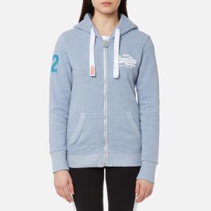 Superdry Women's Vintage Logo Ziphood Sweatshirt - Snowy Cali Blue