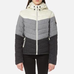Superdry Women's Fuji Chevron Mix Hooded Jacket - Grey Mix