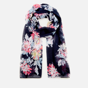 Joules Women's Wensley Long Line Woven Scarf - Navy Whitstable Floral