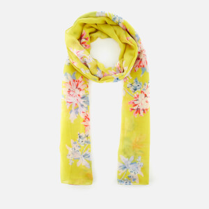 Joules Women's Wensley Long Line Woven Scarf - Yellow Whitstable Floral