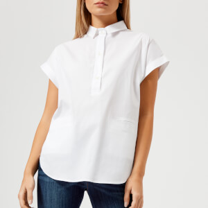 Emporio Armani Women's 3/4 Button Shirt - White