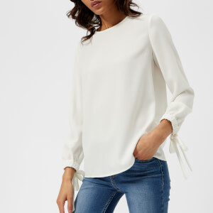 Emporio Armani Women's Tie Sleeve Blouse - White