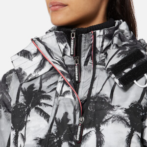 Superdry Women's Black Edition Windcheater Jacket - Mono Palm/Black/Neon Pink: Image 4