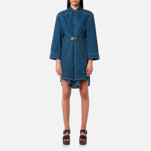 MM6 Maison Margiela Women's Vintage Denim Shirt Dress - Medium Blue