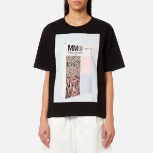 MM6 Maison Margiela Women's American Jersey Logo T-Shirt - Black