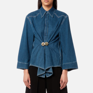 MM6 Maison Margiela Women's Denim Shirt - Medium Blue