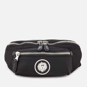 Versus Versace Men's Round Logo Bum Bag - Black/Nickel