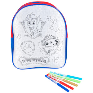 Paw Patrol Colour Your Own Backpack Craft Set