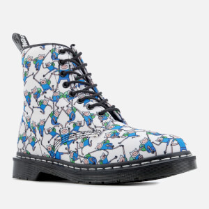 Dr. Martens Toddlers' Castel Canvas Finn Print Lace Low Boots - Blue/White: Image 4