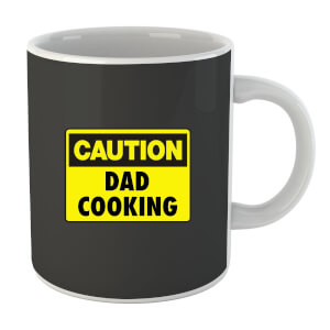 Caution Dad Cooking Mug