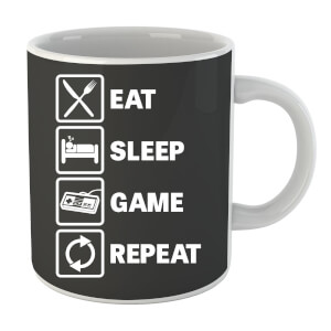Eat Sleep Game Repeat Mug
