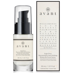 Avant Skincare 8 Hour siero viso antiossidante ritesturizzante all'acido ialuronico 30 ml