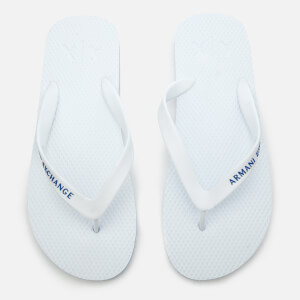 Armani Exchange Men's Solid Flip Flops - Bianco