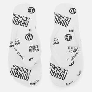 Armani Exchange Men's AX Flip Flops - Bianco