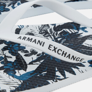 Armani Exchange Men's AX Flip Flops - Exotic White: Image 3