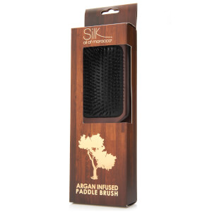 Silk Oil of Morocco Vegan Argan Single Brown Paddle Brush 160g