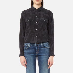 Rails Women's Rhett Shirt - Charcoal Camo