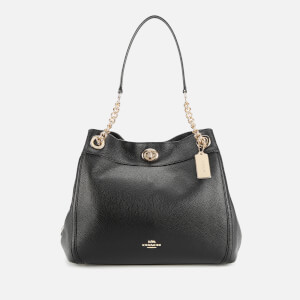 Coach Women's Turnlock Edie Shoulder Bag - Black