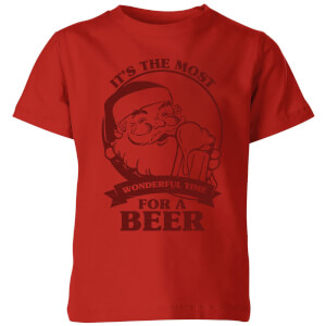 The Most Wonderful Time For A Beer Kids' T-Shirt - Red