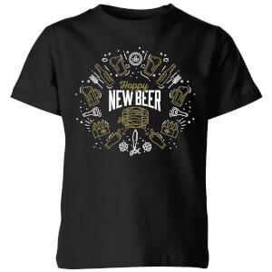 Hoppy New Beer Kids' T-Shirt - Black