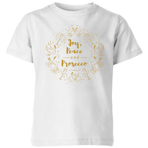 Joy, Peace And Prosecco Kids' T-Shirt - White