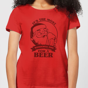 The Most Wonderful Time For A Beer Women's T-Shirt - Red