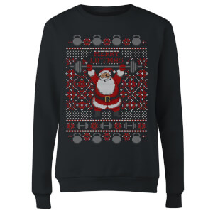 Merry Liftmas Women's Sweatshirt - Black