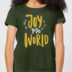 Joy to the World Women's T-Shirt - Forest Green
