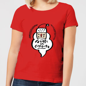Santa is Coming Women's T-Shirt - Red
