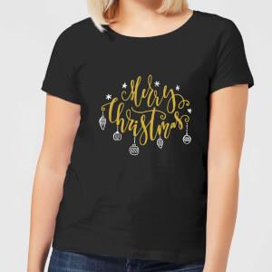 Merry Christmas Women's T-Shirt - Black