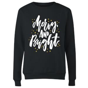 Merry and Bright Women's Sweatshirt - Black
