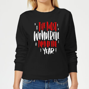 The Most Wonderful Time Women's Sweatshirt - Black
