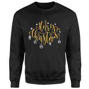 Merry Christmas Sweatshirt - Black
