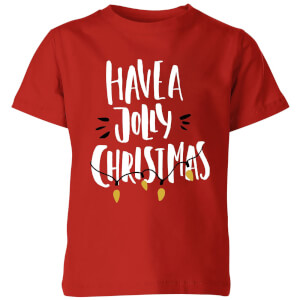 Have a Jolly Christmas Kids' T-Shirt - Red