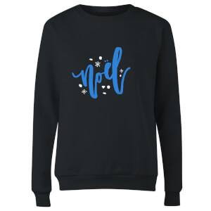 Noel Snowflakes Women's Sweatshirt - Black