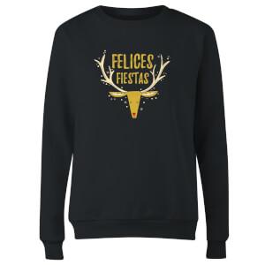 Felices Fiestas Reindeer Women's Sweatshirt - Black