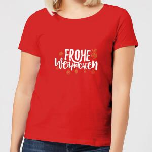 Frohe Weihnachten Women's T-Shirt - Red