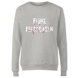 Fijne Feestdagen Women's Sweatshirt - Grey