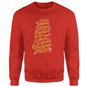 International Reindeer Sweatshirt - Red