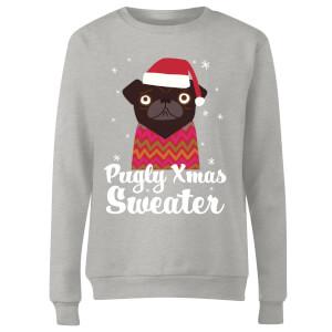 Pugly xmas Sweater Women's Sweatshirt - Grey