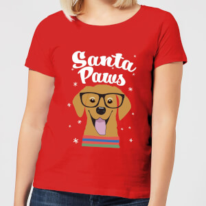 Santa Paws Women's T-Shirt - Red