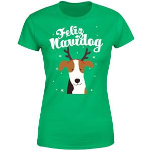 Feliz Navidog Women's T-Shirt - Kelly Green