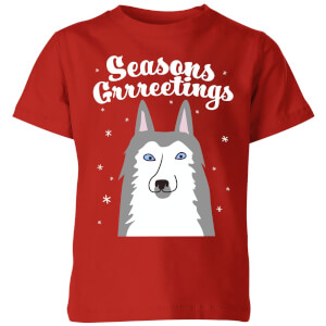 Seasons Grrreetings Kids' T-Shirt - Red