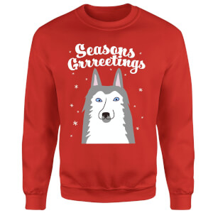 Seasons Grrreetings Sweatshirt - Red