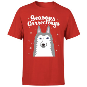 Seasons Grrreetings T-Shirt - Red