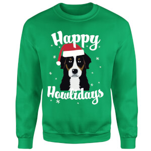 Happy Howlidays Sweatshirt - Kelly Green