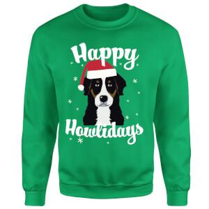 Happy Howlidays Sweatshirt - Kelly Green