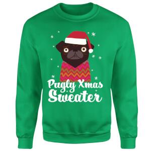 Pugly xmas Sweater Sweatshirt - Kelly Green