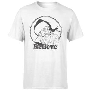 Believe Grey T-Shirt - White