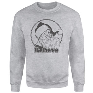 Believe Grey Sweatshirt - Grey